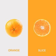 Creative layout made of orange .