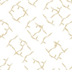 Gold leaves pattern vector in Japanese style.