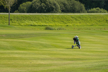 Golf courses in Sigulda, Latvia. Landscape with golf courses.