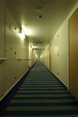 Ship interiors: spooky corridor