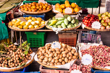 Fruit and vegetables thai market