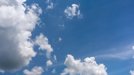 Fototapete - blue sky with white clouds ะรทำสฟยหำ