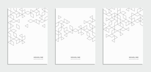 Geometric abstract brochure, flyer. Corporate identity.