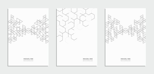 Geometric abstract brochure, flyer. Corporate identity. Wall mural