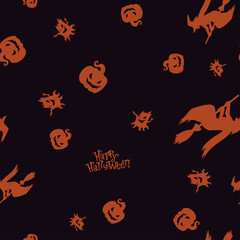 Seamless pattern Halloween color