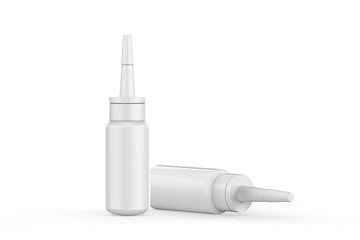 Glue Bottle Mock-up On Isolated White Background, 3D Illustration
