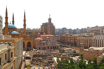 Deurstickers Turkije Downtown Beirut Skyline on a white background