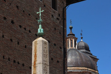Urbino, Italy, cathedral detail, ancient and historical medieval city