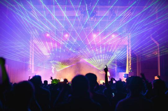 laser lights during concert