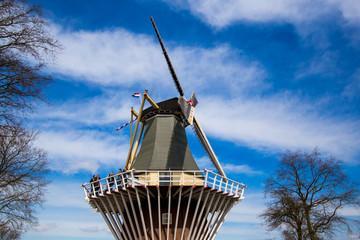 Dutch windmill and a beautiful sky