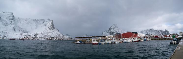 Panorama of the Norwegian village
