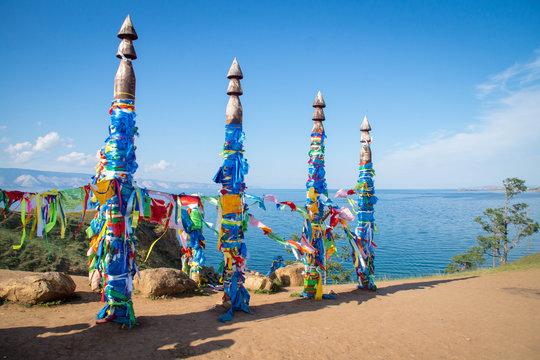 Sacred Serge pillars on Olkhon island