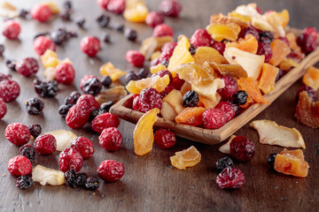 Dried fruits and berries.