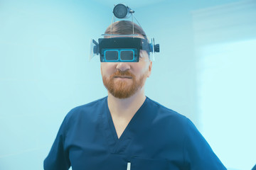 Doctor in a modern medical clinic