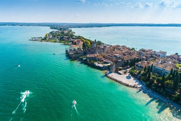 Aerial view on Sirmione city