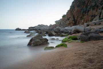 playa en Tossa de Mar, Gerona, España