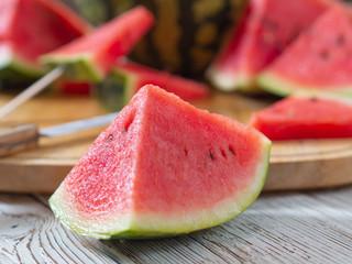 Ripe juicy red watermelon