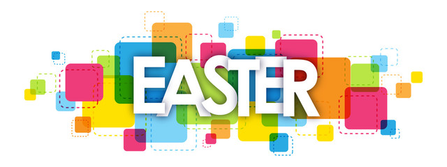 EASTER colorful typography banner