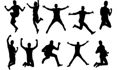 Man Jumping Silhouette, Man Jumping Clipart, SVG, cut file, cricut, vector svg dxf eps png ai