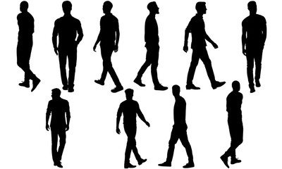 Man Walking Silhouette, Man Walking Clipart, SVG, cut file, cricut, vector svg dxf eps png ai