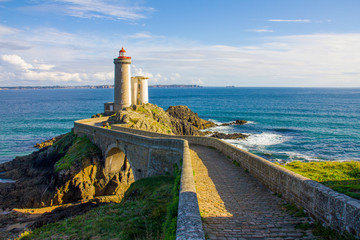 Petit Minou lighthouse near Brest city, Bretagne Wall mural