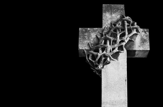 Cross with a thorny wreath