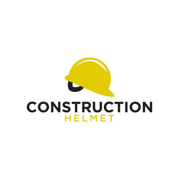 Construction helmet logo icon element template illustration