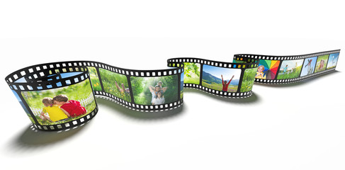 film strip media concept image
