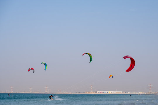 Kite Surfing at YAs Island Abu Dhabi