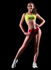 Sporty girl isolated