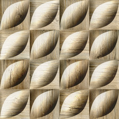 Abstract decorative tiles - seamless background - wood texture