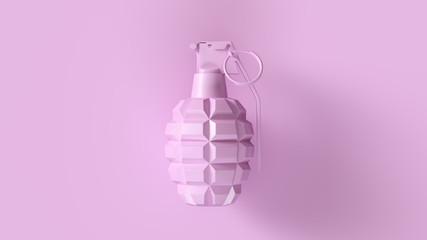 Pink Grenade Concept 3d illustration 3d render