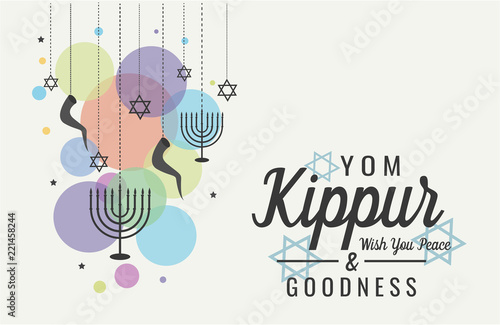 Yom kippur greeting card or background vector illustration stock yom kippur greeting card or background vector illustration m4hsunfo