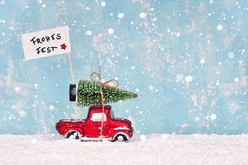 Frohes Fest - Weihnachtsbaum holen