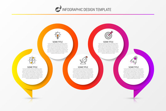 Infographic design template. Creative concept with 5 steps