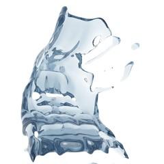 Printed kitchen splashbacks Fairytale World Splashing blue sparkling pure water. Abstract nature background