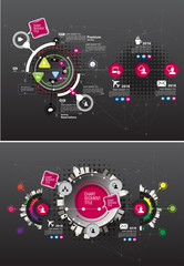 Design colorful presentation templates. Vector background.