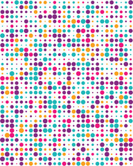 Pattern with colorful dots, Seamless vector background
