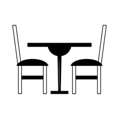 dinning wooden table and chairs in black and white