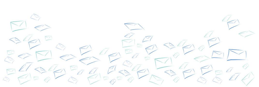 buste, lettera, messaggio, scrivere