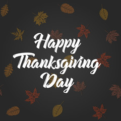 Thanksgiving day greeting card . Vector illustration