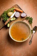 vegetables broth with ingredients