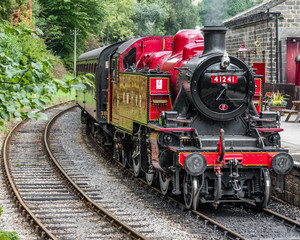 Old Red Steam Train