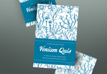 Illustrated Floral Flyer Layout