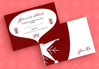Holiday Invitation Layout