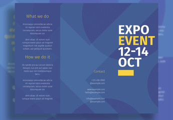 Business Trifold Layout with Blue Elements