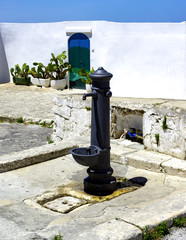Old fountain in Ostuni Old town. Apulia.