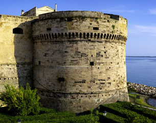 defense tower of Castello Aragonese. It was built in the 15th century with the intention to protect the town from the Turks frequent raids.