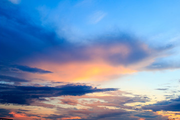 beautiful colorful sky and cloud in twilight time background