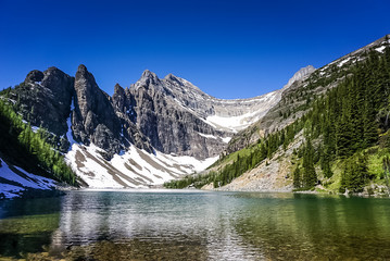 Lake Agnes on Tea House Trail in Banff National Park in Alberta Canada